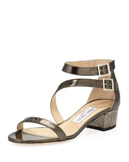 Jimmy Choo Maloy Double-Strap Sandal