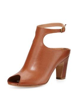 Maison Martin Margiela Low-Heel Peep-Toe Ankle-Strap Bootie