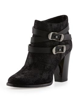 Jimmy Choo Melba Glossy-Heel Ankle Boot