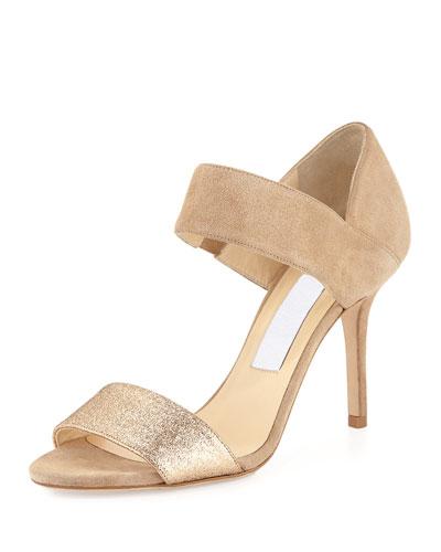8fa3bae7885ad Jimmy Choo Tesoro Suede & Glitter Sandal, ...