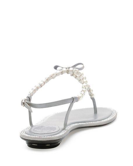 c6df3b761e015d Rene Caovilla Pearly   Crystal Flat Thong Sandal