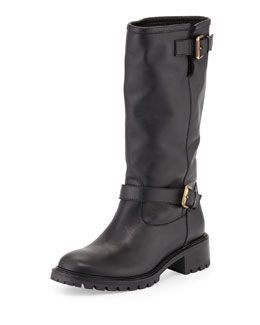 Biker Boot with Rabbit Fur Lining