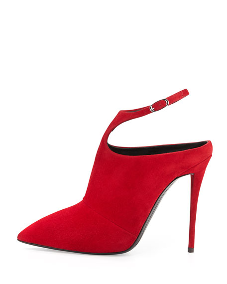 Suede Ankle-Strap Bootie, Passione