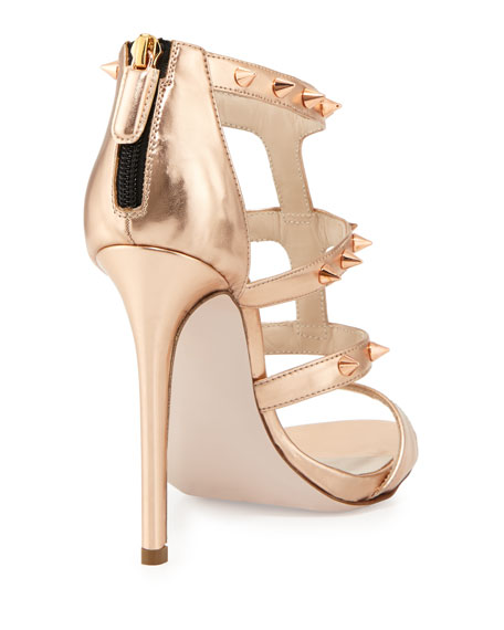 Ruthie Davis Studded Metallic Sandals
