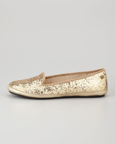Asher -Lined Glitter Loafer, Champagne
