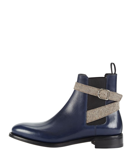 Flat Buckled Flat Chelsea Boot