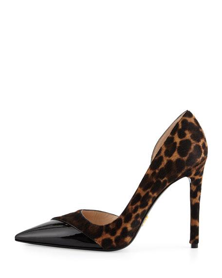 Calf Hair Half d'Orsay Pump, Leopard