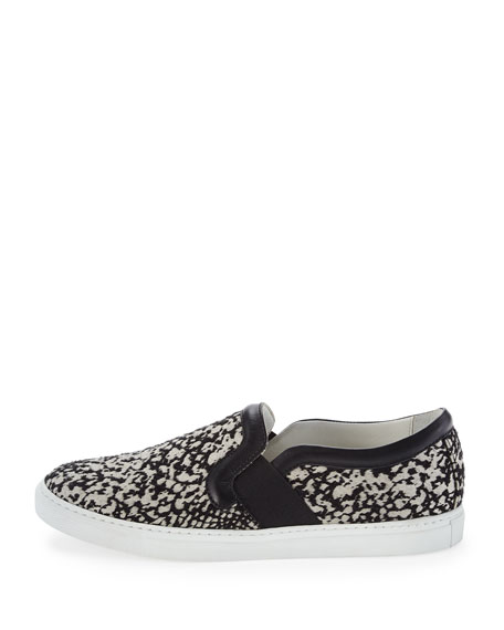 Patterned Slip-On Sneaker, Black