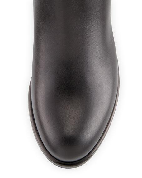 Ascot Ribbon Lace-Up Riding Boot, Black