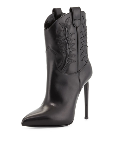 Saint Laurent High Heel Western Boot