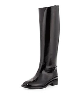 Saint Laurent Spazzolato Flat Knee Boot