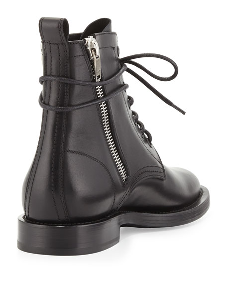 Side-Zipper Lace-Up Boot