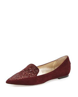 Jimmy Choo Guild Glitter Point-Toe Loafer