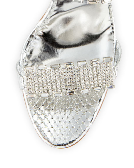 Dallifaco Crystal-Band Snake Slide Sandal