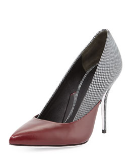 Alexander Wang Cicely Mixed-Leather Pump