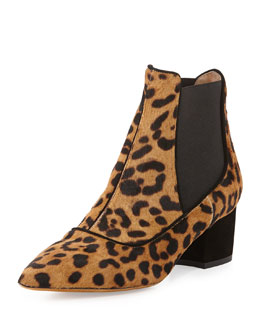 Tabitha Simmons Calf Hair Chelsea Boot, Leopard