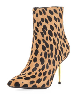 Tom Ford Leopard-Print Goat Hair Bootie