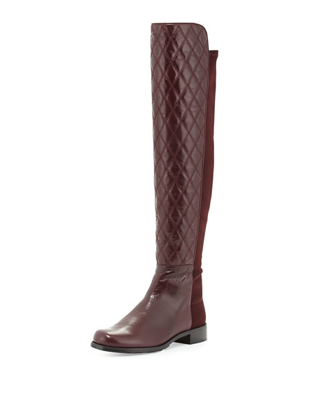 Quiltboot 50/50 Over-the-Knee Boot, Bordeaux (Made to Order)