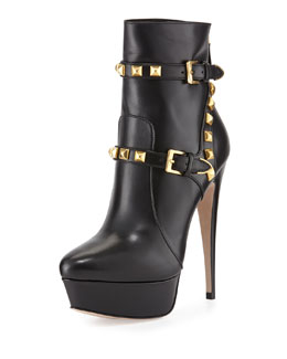 Miu Miu Studded Harness Platform Boot