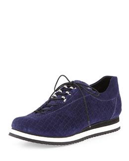 Stuart Weitzman Relay Suede Sneaker, Ink