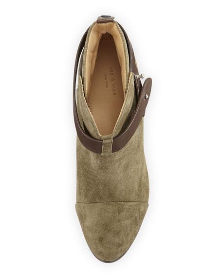 Harrow Nubuck Ankle Boot, Stonewall Green