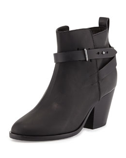 Rag & Bone Dalton Leather Ankle Boot, Black