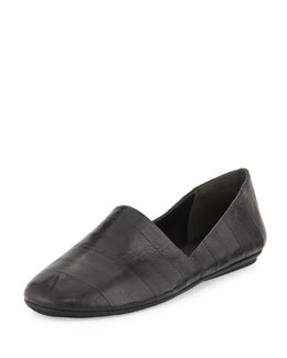 Vince Bogart Eelskin Slip-On Flat, Black