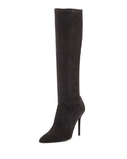 Benefit Stretch Suede Boot, Anthracite