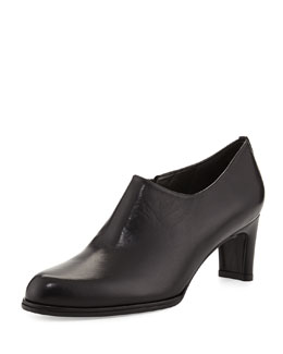 Stuart Weitzman Cover Leather Bootie, Black