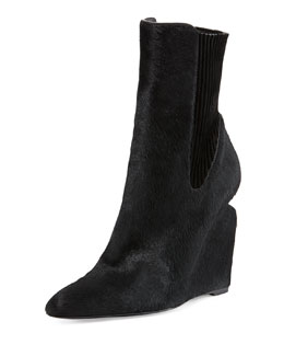 Alexander Wang Andie Calf Hair Wedge Boot