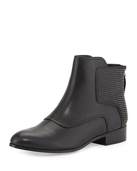 Keon Studded Leather Ankle Boot, Black