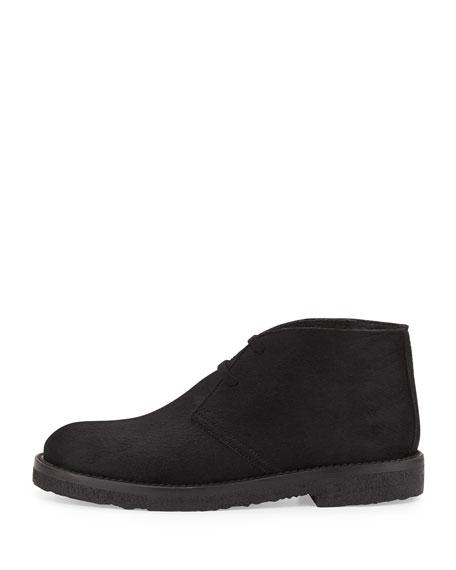 Clay Calf Hair Chukka Boot, Black