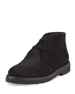 Vince Clay Calf Hair Chukka Boot, Black