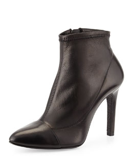 Pedro Garcia Roberta Leather Ankle Bootie, Black