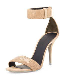 Alexander Wang Antonia Stingray Ankle-Wrap Sandal