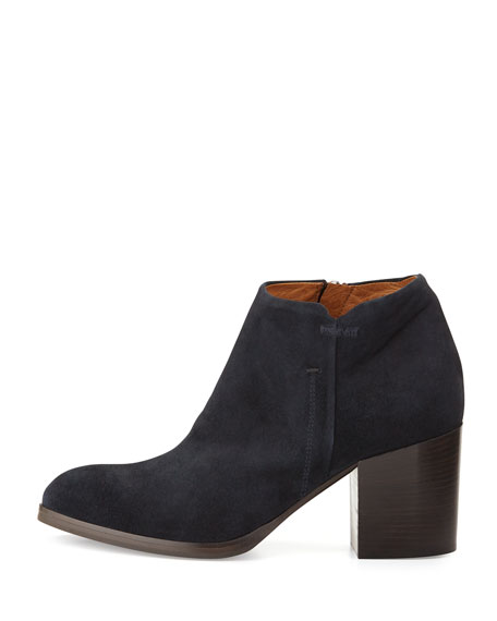 Anzio Low-Cut Suede Ankle Boot, Blue Notte