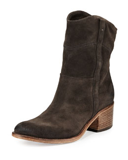 Alberto Fermani Martana Suede Ankle Boot, Anthracite