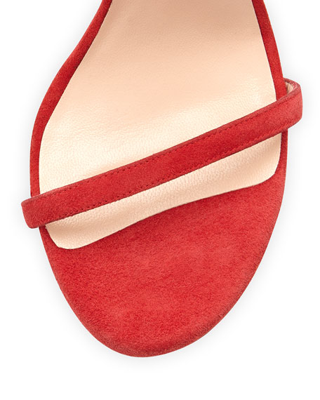 Nudist Ankle-Strap Suede Sandals