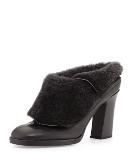 Rag & Bone Hailey Shearling-Lined Runway Mule