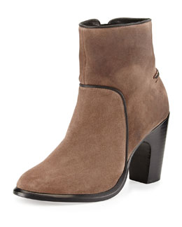 Rag & Bone Grayson Suede Ankle Boot, Taupe