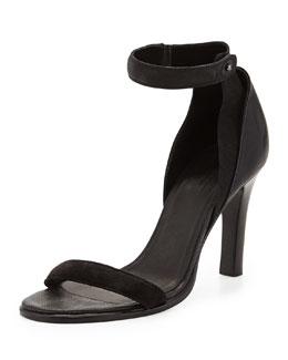 Rag & Bone Albion Ankle-Strap Sandal, Asphalt