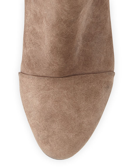 Kinsey Cap-Toe Suede Ankle Boot, Taupe