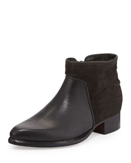Rag & Bone Aston Suede/Leather Ankle Bootie, Asphalt