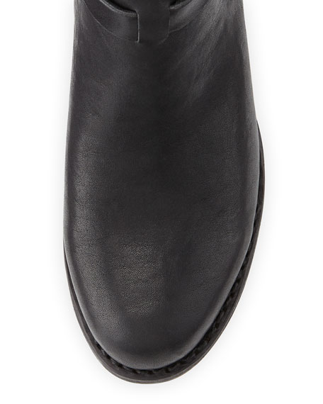 Durham Slip-On Leather Boot, Black