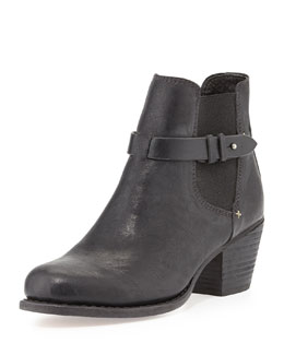 Rag & Bone Durham Slip-On Leather Boot, Black