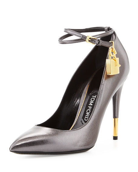 Metallic Ankle-Lock Pump, Gunmetal