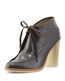 10 Crosby Derek Lam Madeline Leather Lace-Up Bootie, Graphite