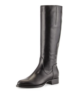Aquatalia Gabor Leather Knee Boot, Black