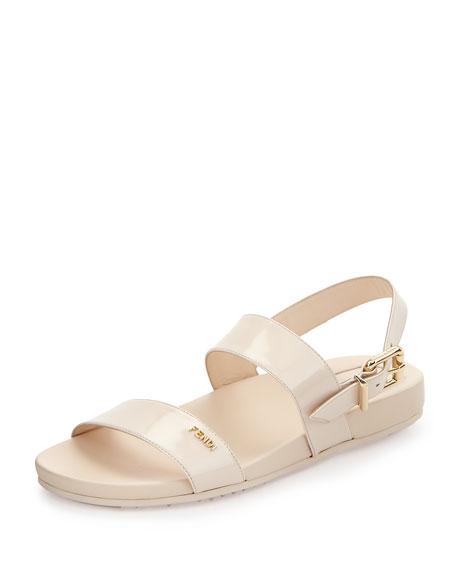 double strap sandals - White Fendi dAOcQ