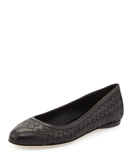 cheap big sale sale low price fee shipping Bottega Veneta Leather Intrecciato Flats sale fashion Style outlet 2014 newest official site sale online gbKhYSFZ7